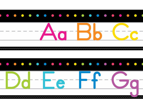 Neon Pop - Cursive and Manuscript Alphabet Lines