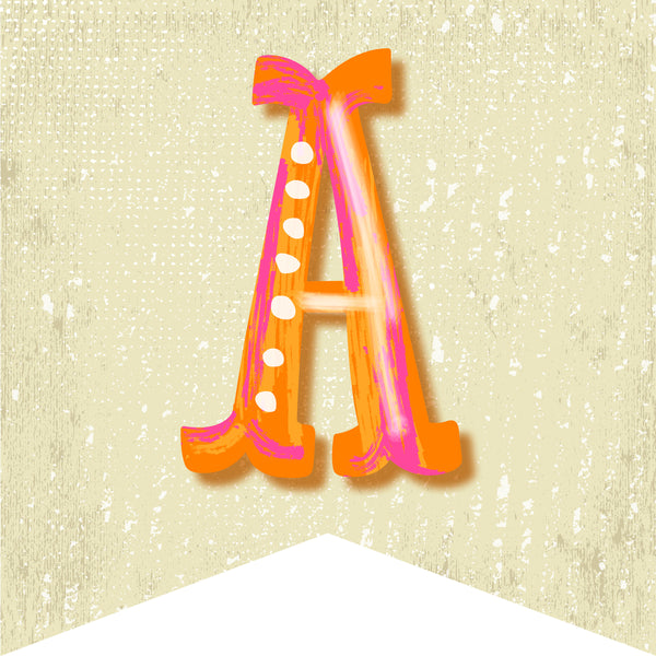Under the Boardwalk - Alphabet Banner