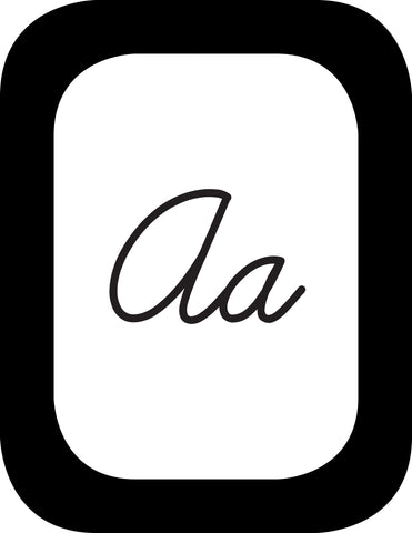 Simply Stylish Cursive Alphabet Cards