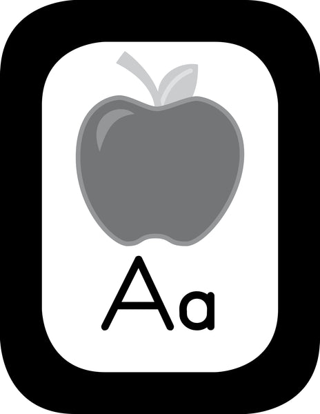 Just Teach Black and White - Alphabet Cards