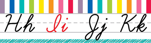Color My Classroom - Cursive Alphabet Line {UPRINT}