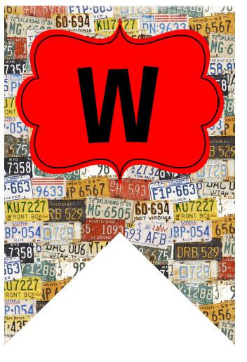 Road Trip Welcome Banner - License Plates