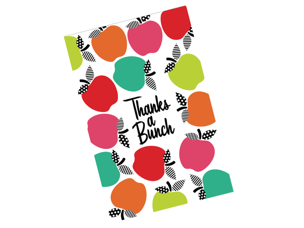 Schoolgirl Style - Black, White and Stylish Brights Thank You Note Cards