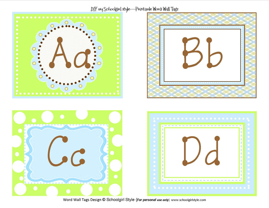 picture about Word Wall Printable named Adorable Blue Chicken Phrase Wall Labels