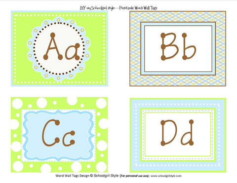 Sweet Blue Bird Word Wall Labels