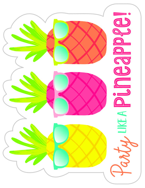 Pina Colada Pineapple - Birthday Bulletin Board Set! {UPRINT}