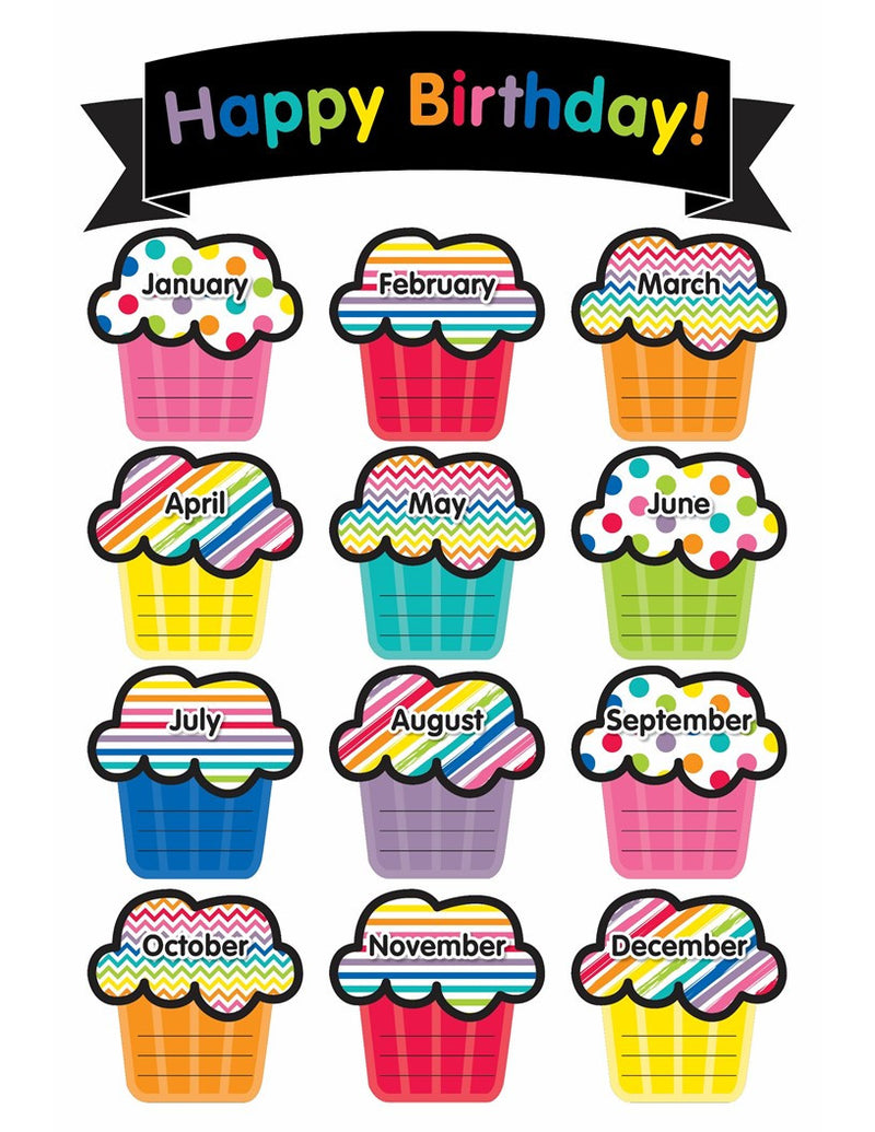 Schoolgirl Style - Just Teach Birthday Chart {U PRINT}