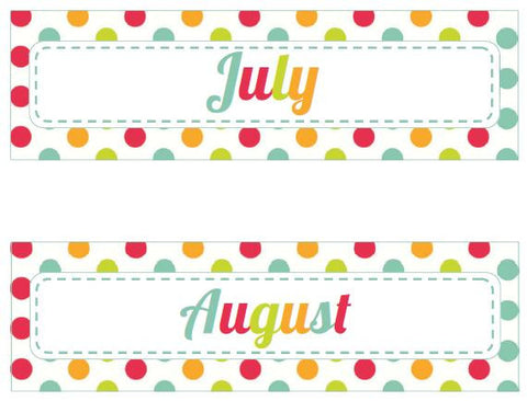 By The Sea - Calendar Headers