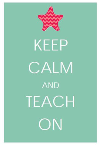 By The Sea - Keep Calm and Teach On Print