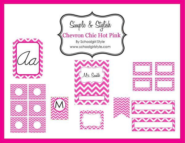 Chevron Chic - Hot Pink