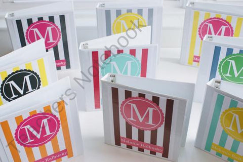 Striped Binder Covers