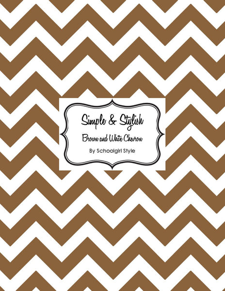 Chevron Chic - Chocolate