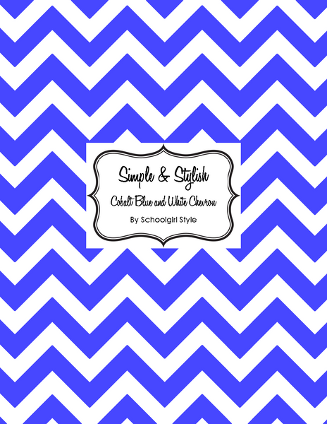 Chevron Chic - Cobolt Blue