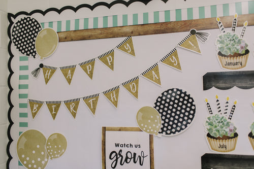 Schoolgirl Style - Simply Stylish Birthday Bulletin Board Set