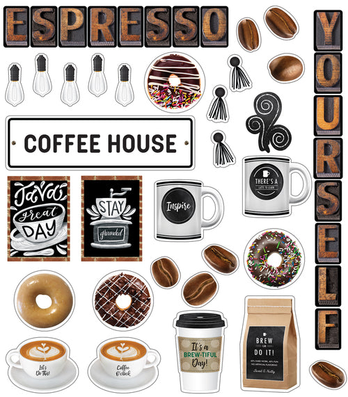 Industrial Cafe 'Espresso Yourself' Mini Bulletin Board Set {U PRINT}