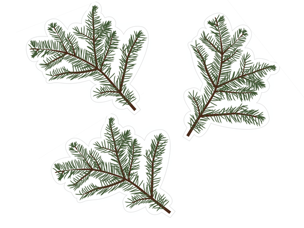Evergreen Branch Cut-Outs {UPRINT}
