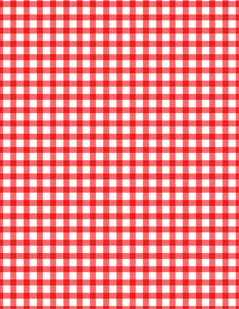 teachers pet red gingham decorative paper - Decorative Paper