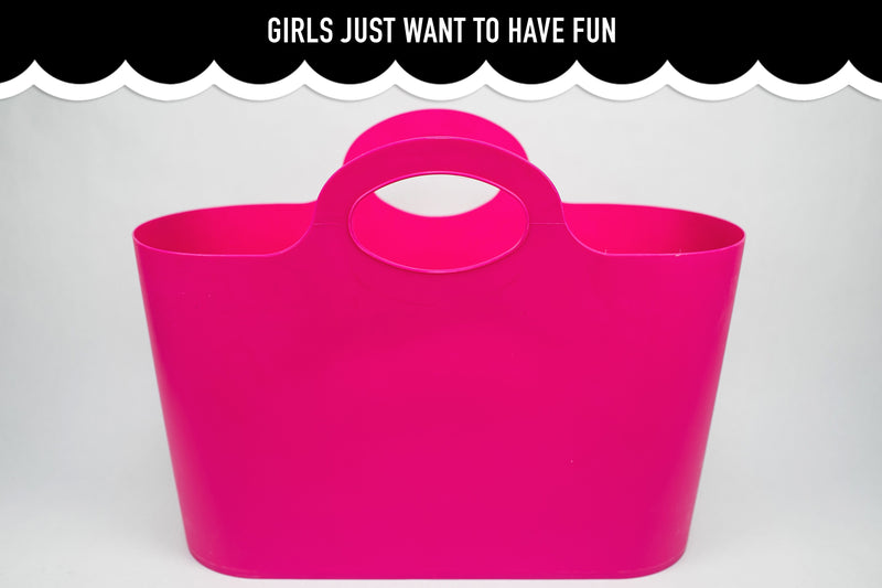 {Girls Just Want to Have Fun} Jumbo Jelly Tote -12 pack-