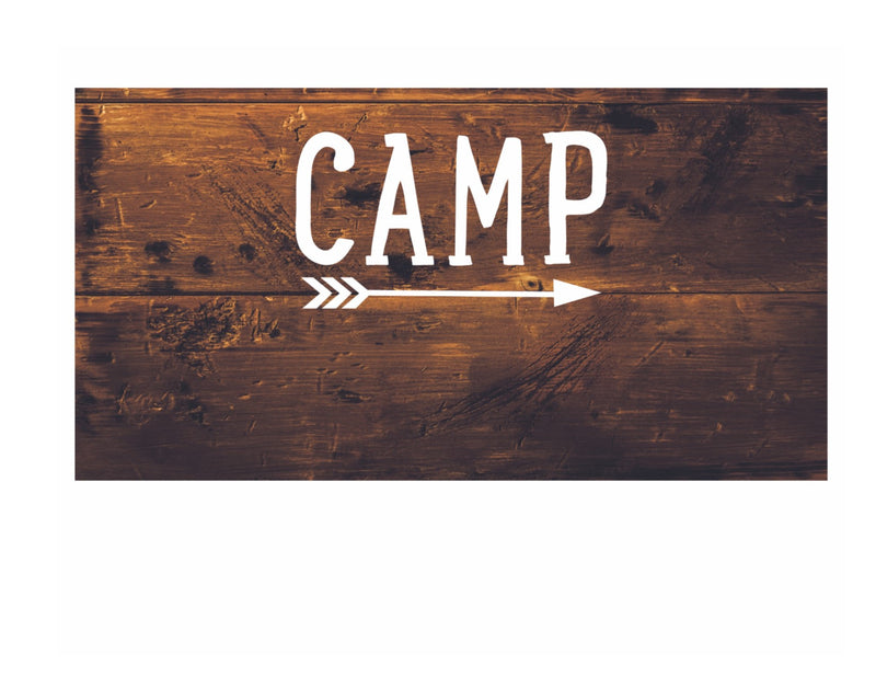 Happy Camper - Large Classroom Signs {UPRINT}