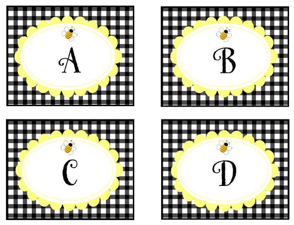 Happy Honeybee Word Wall Labels