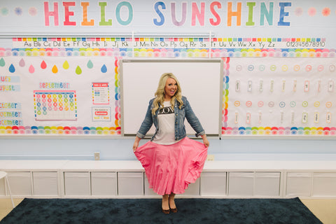 Hello Sunshine Rainbow Letters (from Melanie's classroom MAKEOVER)
