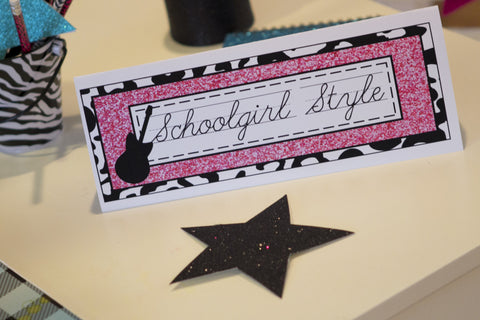 Rock Star Glitter Star Cut Outs