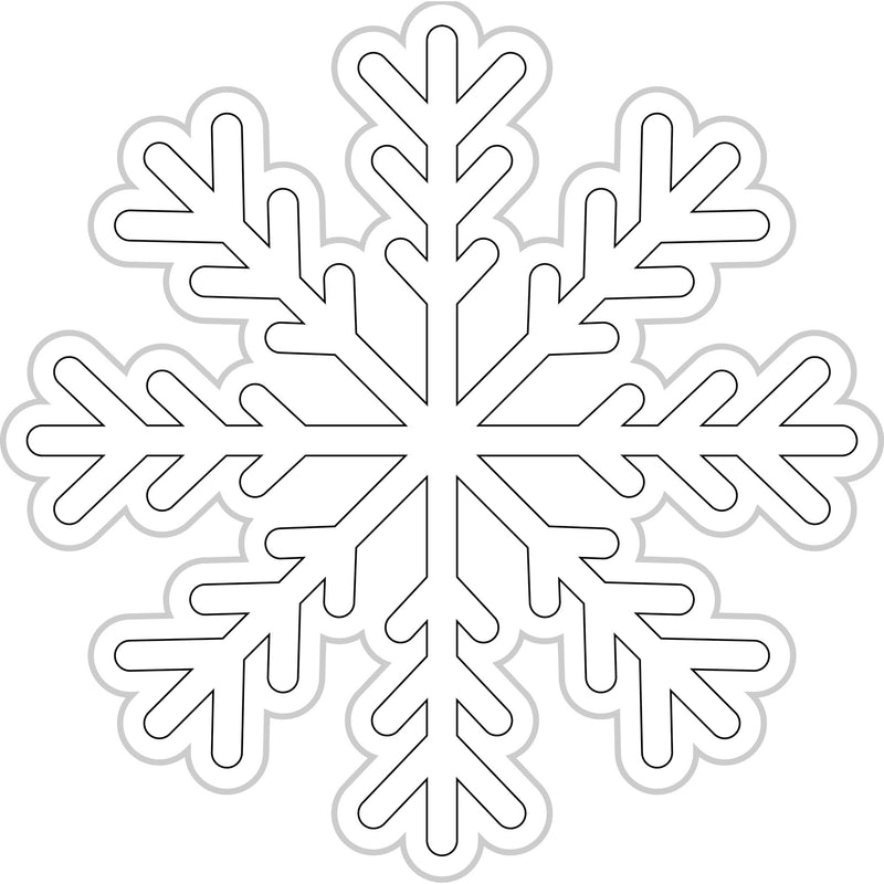 Color My Classroom Snowflakes {UPRINT}