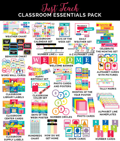 Just Teach - Rainbow Pack FULL COLLECTION {U PRINT}