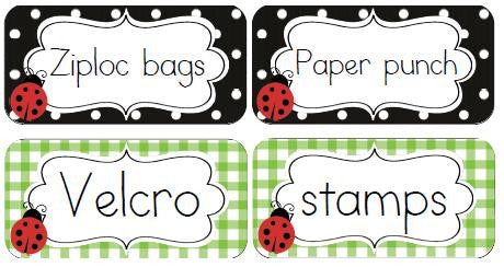 Lovely Ladybugs 2x4 Avery Sticky Labels {UPRINT}