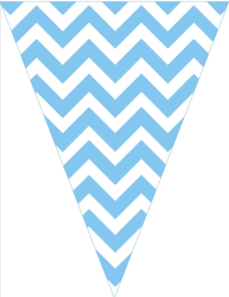 Chevron Chic - Light Blue