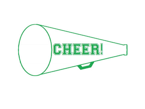 Totally Teamwork Cheer Megaphone Cut Outs