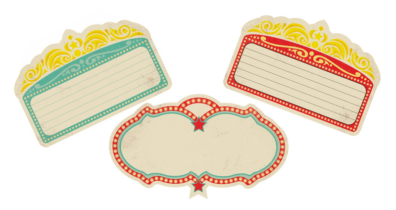 Vintage Circus -Marquee Editable Cutouts {UPRINT}