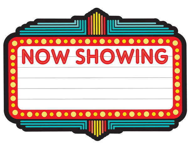 "Hooray for Hollywood - ""Now Showing"" Marquee Sign {UPRINT}"