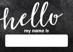 Industrial Chic Hello! Name Tags