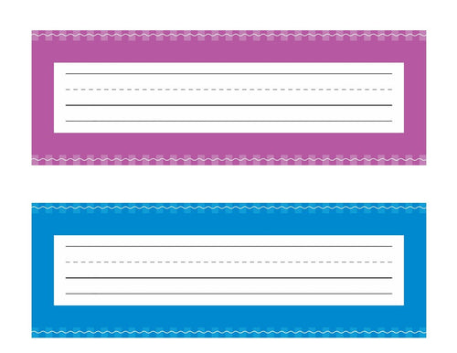 Schoolgirl Style - Just Teach Early Childhood Nameplates AND Name Tags NEON {UPRINT}