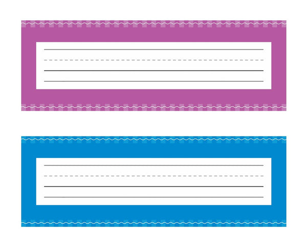 Just Teach - Early Childhood Nameplates AND Name Tags NEON
