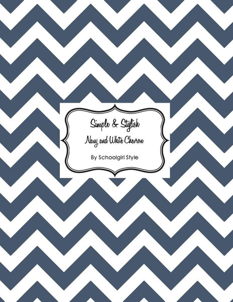 Chevron Chic - Navy Blue