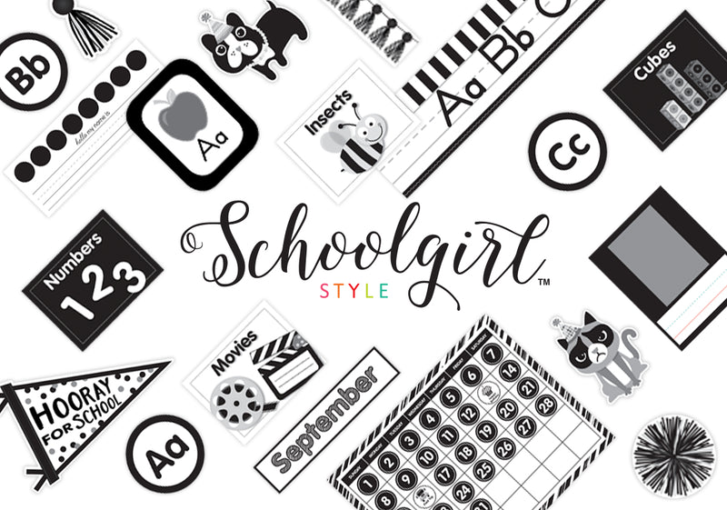 Schoolgirl Style - Just Teach Black and White FULL Collection {UPRINT}