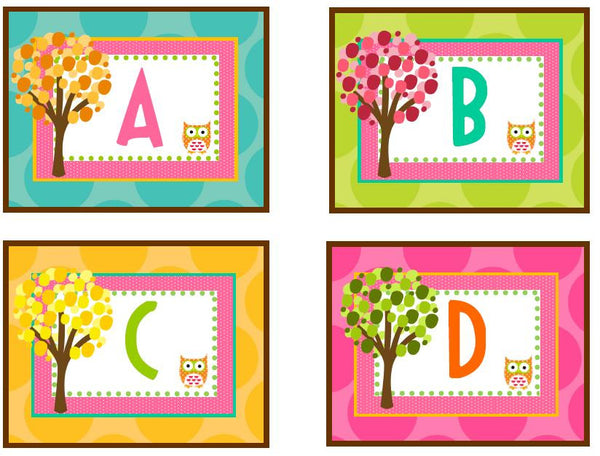 Owl Word Wall Labels