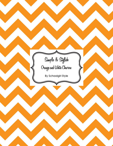 Chevron Chic - Orange