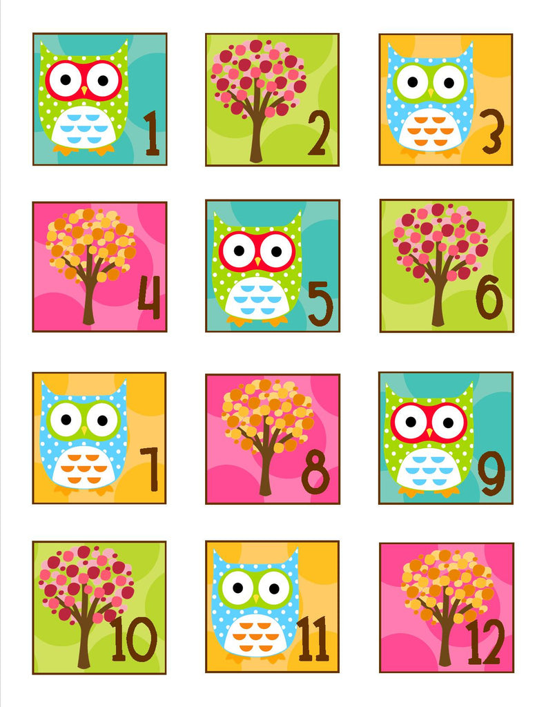 Owl Calendar Numbers on Blank Number Line To 10