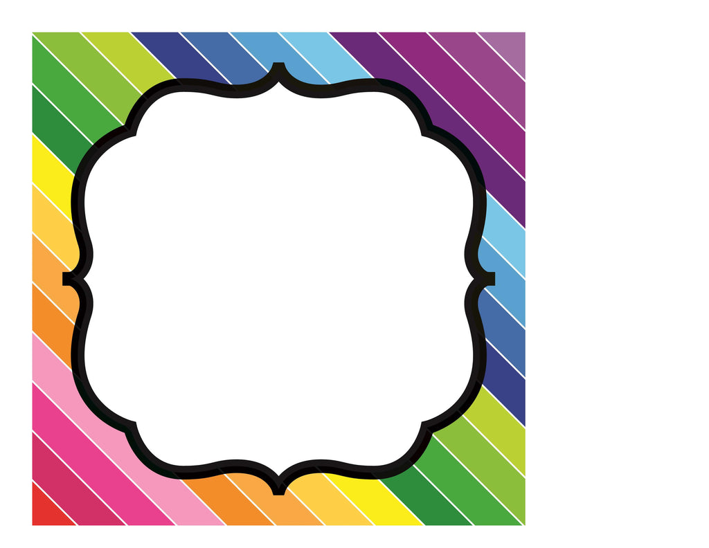 happy rainbow editable sign template schoolgirl style