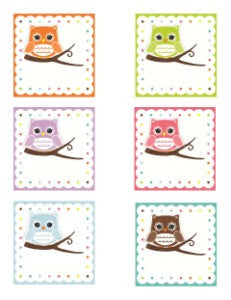 Bright Owls 3 inch Labels