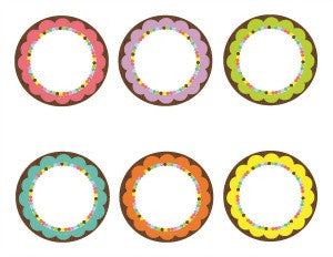 Bright 3 inch Round Labels {UPRINT}