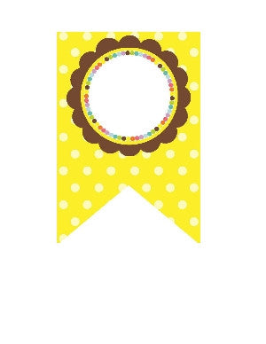 Bright Polka Dots Banner {UPRINT}
