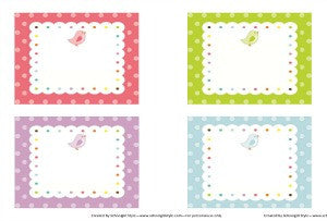 Bright Birds Multipurpose Labels