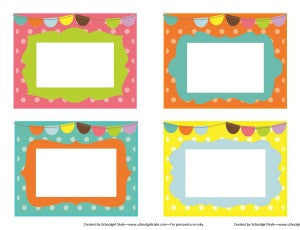 Bright Multipurpose Labels - Pennants