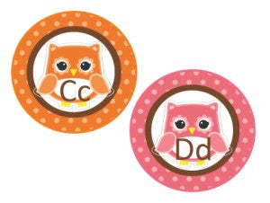 Bright Owls Word Wall Labels