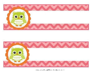 Bright Owls Fancy Nameplates {UPRINT}