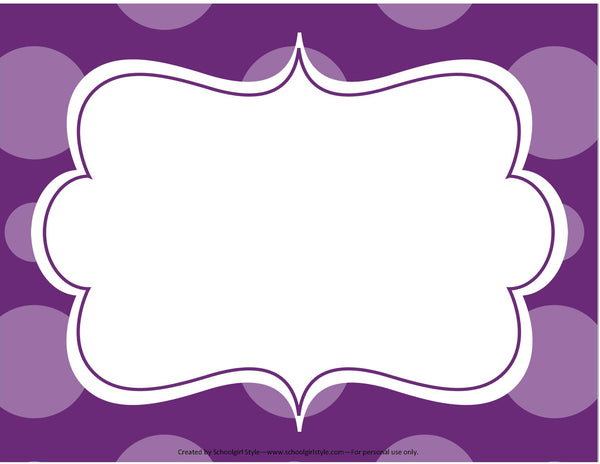 Midnight Orchid Paisley Editable Sign Template
